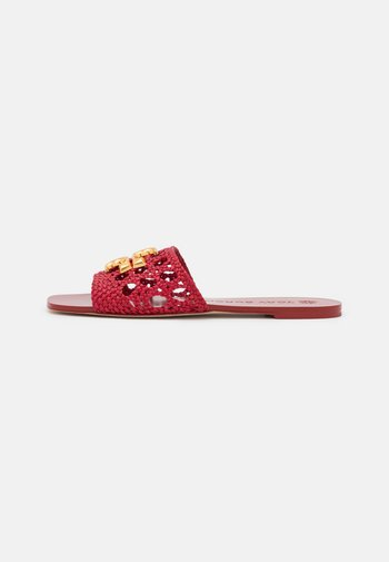 ELEANOR WOVEN FLAT SLIDE - Pantofle - tory red