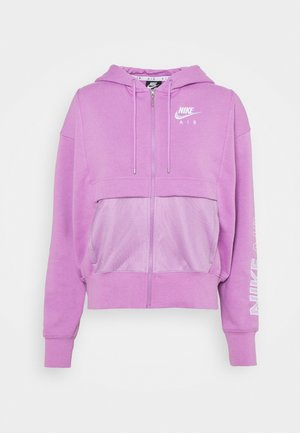 Zip-up hoodie - violet shock/white