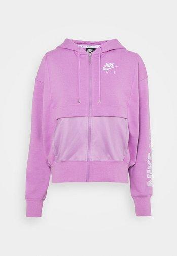 Zip-up sweatshirt - violet shock/white