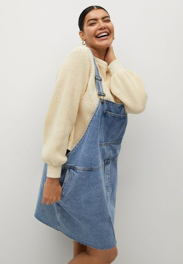OLGA - Denimové šaty - medium blue