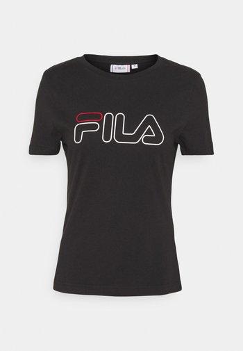LADAN TEE - Print T-shirt - black