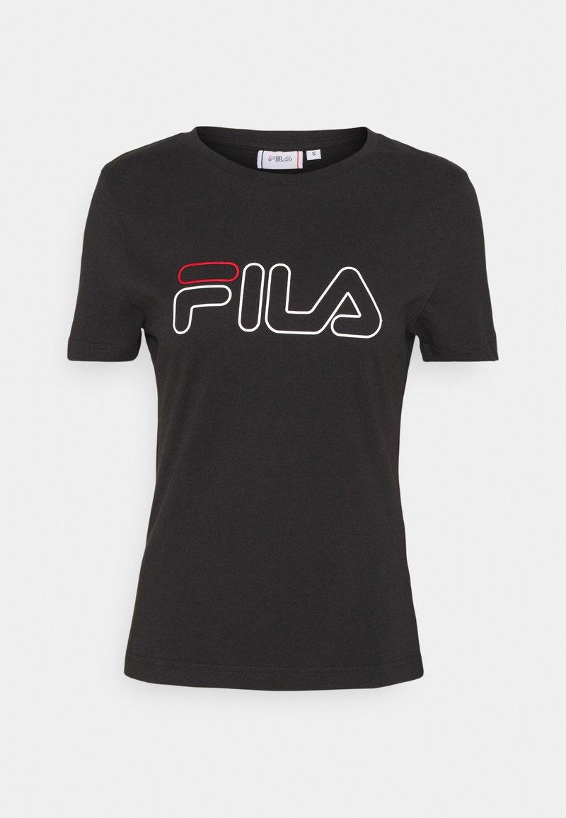 Fila - LADAN TEE - T-shirt z nadrukiem - black