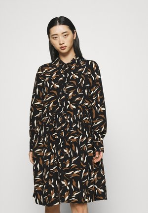 OBJLORENA DRESS - Shirt dress - black sepia/sandshell