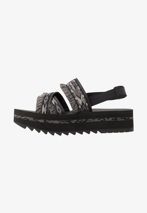 FLATFORM CERES WOMENS - Walking sandals - double diamond black