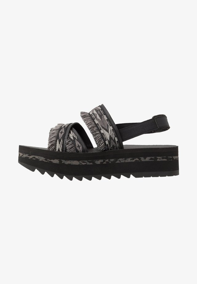 FLATFORM CERES WOMENS - Outdoorsandalen - double diamond black