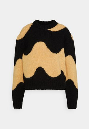 DISJUNKTIO LOKKI - Jumper - black/beige