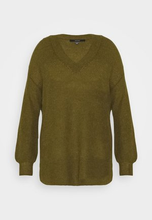 VMTUVILMA LONG SLIT - Pullover - fir green