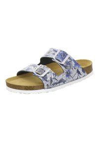 AFS Schuhe - ZWEISCHNALLER - Slippers - marine flower - 2