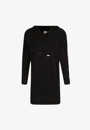 STRAIGHT HOODED  - Jumper dress - black