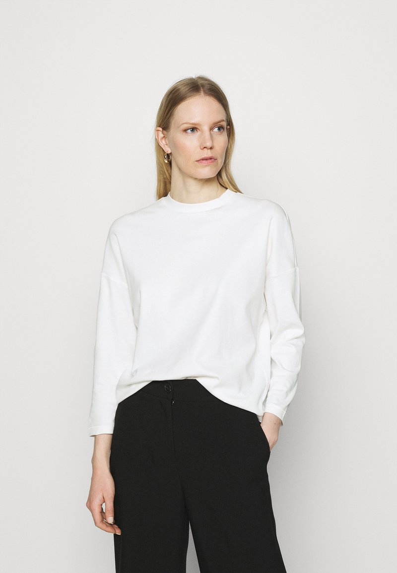 Marc O'Polo - LONG SLEEVE HIGH NECK - Long sleeved top - paper white