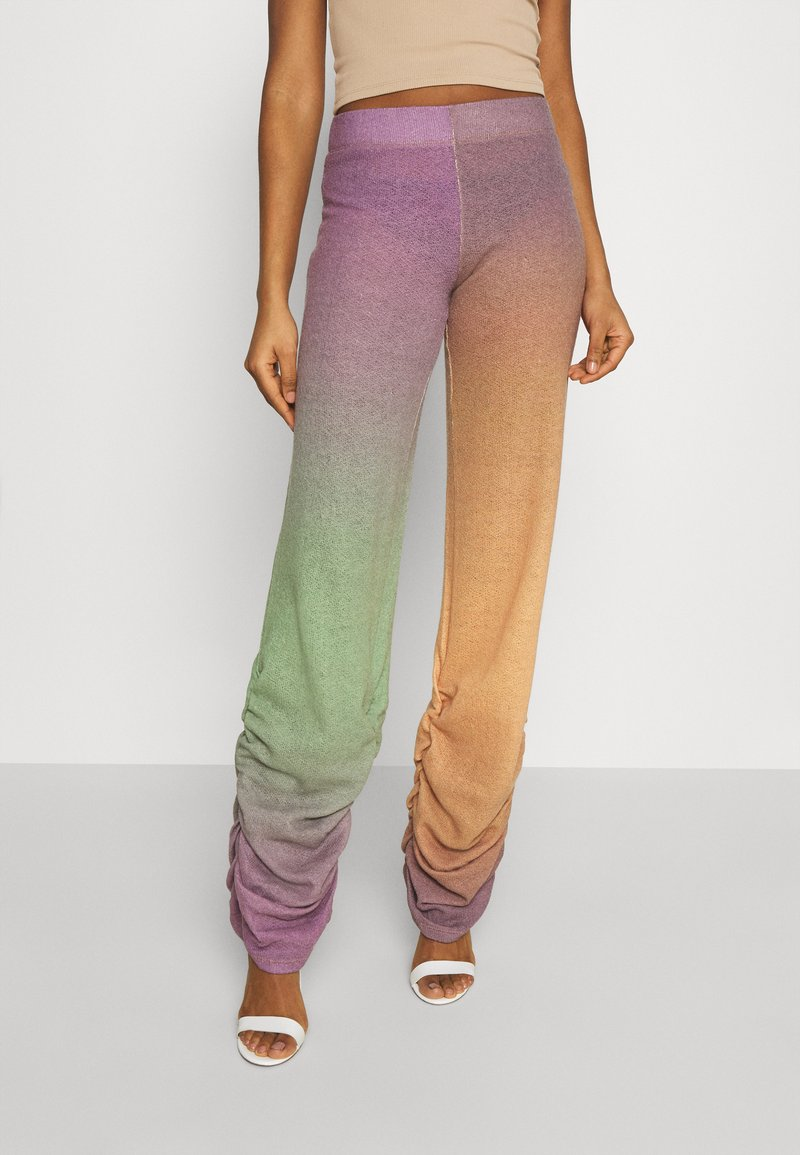 Jaded London - RUCHED HEM PRINTED JOGGERS - Trousers - multi