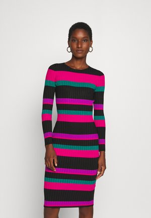 ANGELA  - Shift dress - black/pink/purple