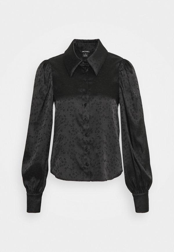 Monki NALA BLOUSE - Koszula - black/czarny DYOR