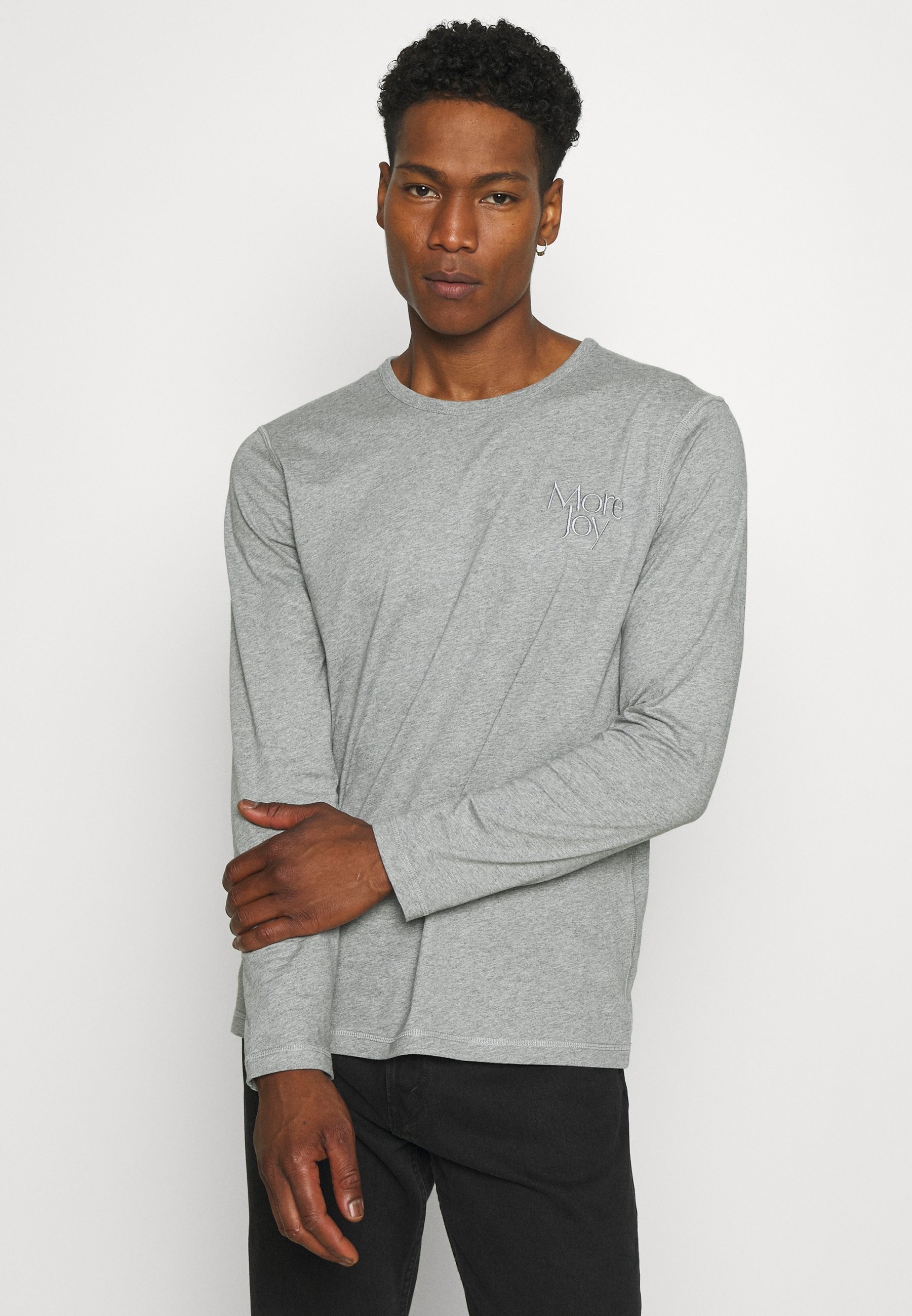 Men EMBROIDERED LONG SLEEVE UNISEX 2 PACK - Long sleeved top