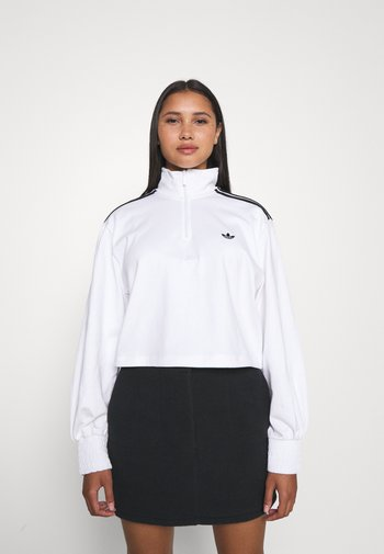 CROPPED HALFZIP - Sweatshirt - white