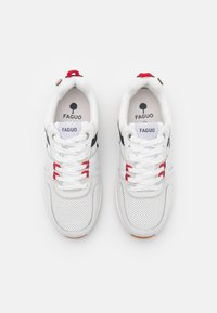 Faguo - WILLOW UNISEX - Sneakersy niskie - white/navy/red - 3