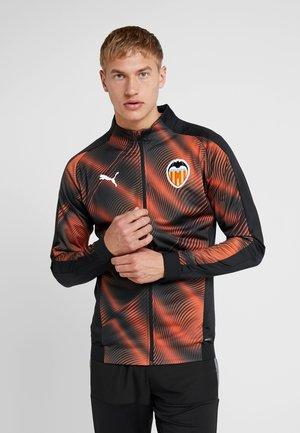 Training jacket - black/vibrant orange