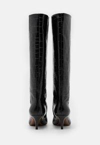 L'Autre Chose - BOOT NON ZIP - Stivali alti - black - 3