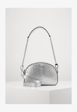 KAYLYN MINI CROSSBODY TOP ZIP - Handbag - silver