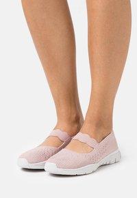 Skechers - SEAGER - Ankle strap ballet pumps - rose - 0