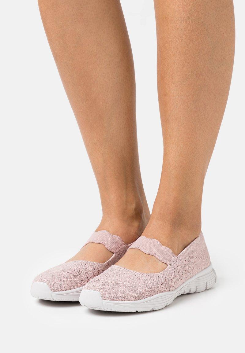 Skechers - SEAGER - Ankle strap ballet pumps - rose