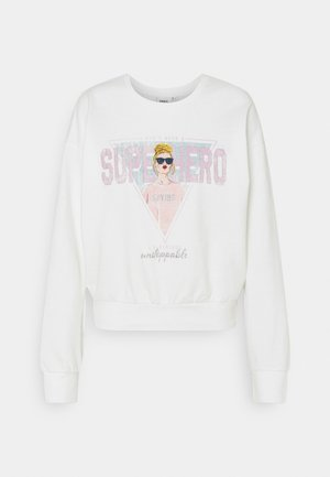 ONLLUCINDA LIFE SHORT GIRLS BOX - Sweatshirt - cloud dancer/superhero