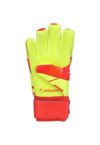 Uhlsport - DYNAMIC IMPULSE ABSOLUTGRIP HN TORWARTHANDSCHUH HERREN - Gloves - red/neon yellow - 2