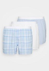 3 PACK - Boxer shorts - light blue/white