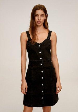 BOHO - Skjortekjole - black denim
