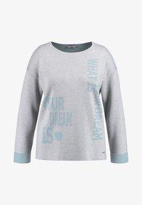 Samoon - MIT WORDING - Jumper - frost grey gemustert - 3