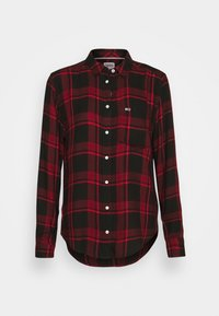 Tommy Jeans - FLUID CHECK - Skjorte - dark red/black - 0