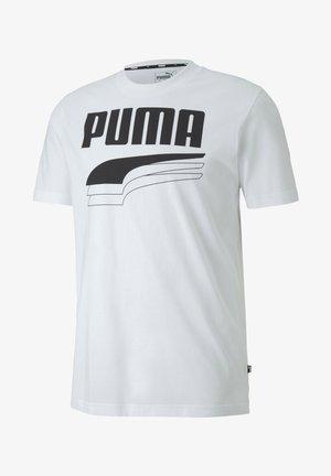 REBEL BOLD  - T-shirt imprimé - puma white/puma black