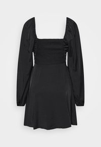 Missguided Tall - RUCHED BUST ALINE DRESS - Kjole - black - 1