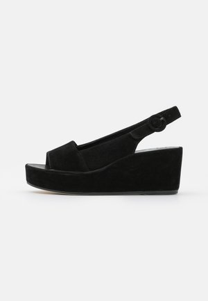 SEASIDE - Platform sandals - schwarz