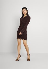 Gina Tricot - DOLLY DRESS - Jerseyklänning - coffee bean - 1