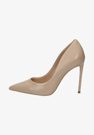 High heels - blush leather