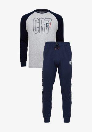 SET - Pyjamahousut/-shortsit - grau/blau