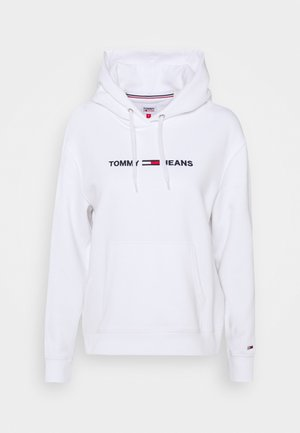 LINEAR LOGO - Sweat à capuche - white