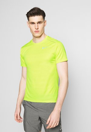 DRY MILER - Print T-shirt - limelight/reflective silver