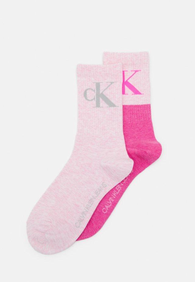 WOMENS LOGO CREW EDEN 2 PACK - Socks - pink combo