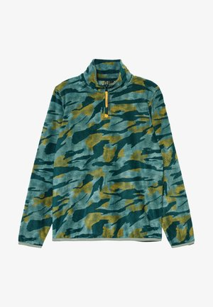 Fleece jumper - green aop