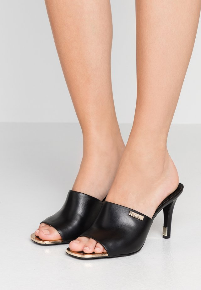 BRONX - Heeled mules - black