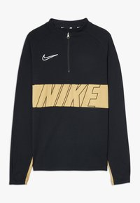 Nike Performance - DRY ACADEMY DRIL  - Sports shirt - black/gold/white - 0