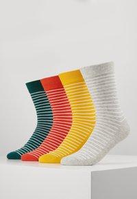 Jack & Jones - JACWIND SOCK 7 PACK - Socks - black/fir - navy blazer - chilli - 0