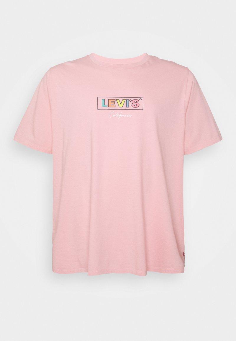Levi's® Plus - BIG GRAPHIC TEE - Print T-shirt - powder pink