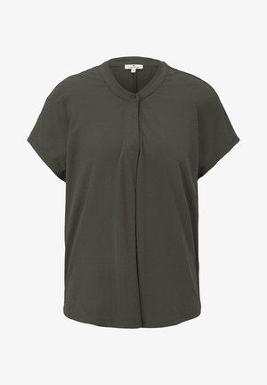 TOM TAILOR T-SHIRT T-SHIRT MIT HENLEY-AUSSCHNITT - Print T-shirt - woodland green