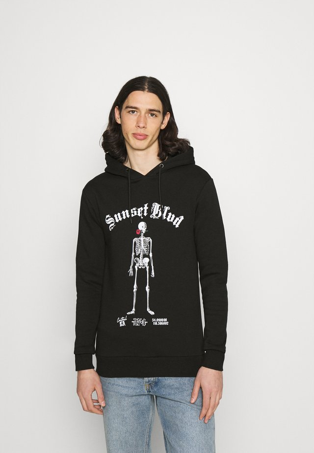 SKELETON HOODIE - Sweatshirt - black