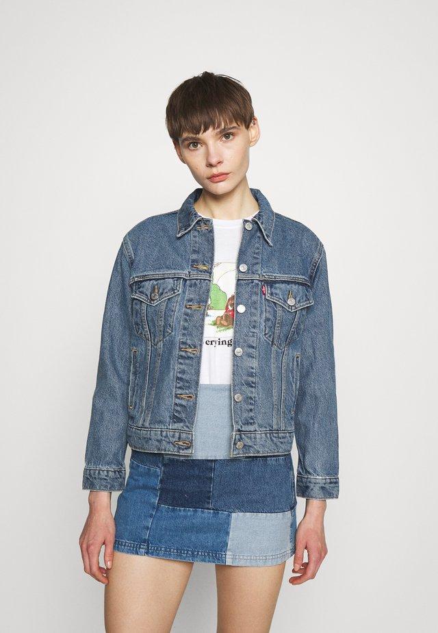 EX-BOYFRIEND TRUCKER - Denim jacket - concrete indigo