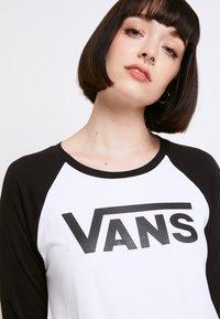 Vans - Bluzka z długim rękawem - white/black - 5