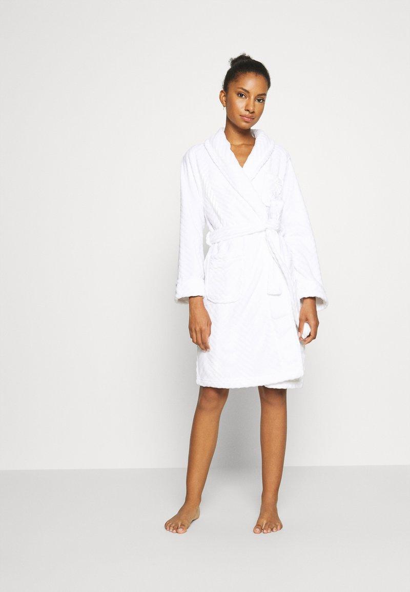 Lauren Ralph Lauren - SHORT ROBE - Dressing gown - white